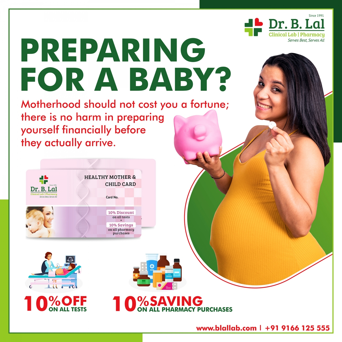 Healthy Mother & Child Card for pregnant women in Jaipur, Rajasthan