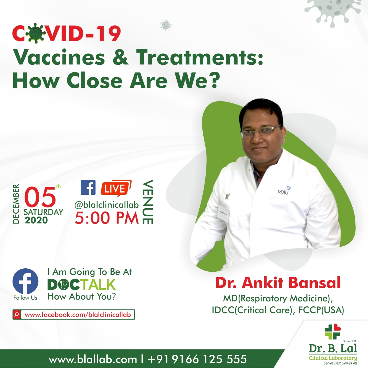 #DocTalk | COVID-19 Vaccines & Treatments: How close are we? | Dr. Ankit Bansal