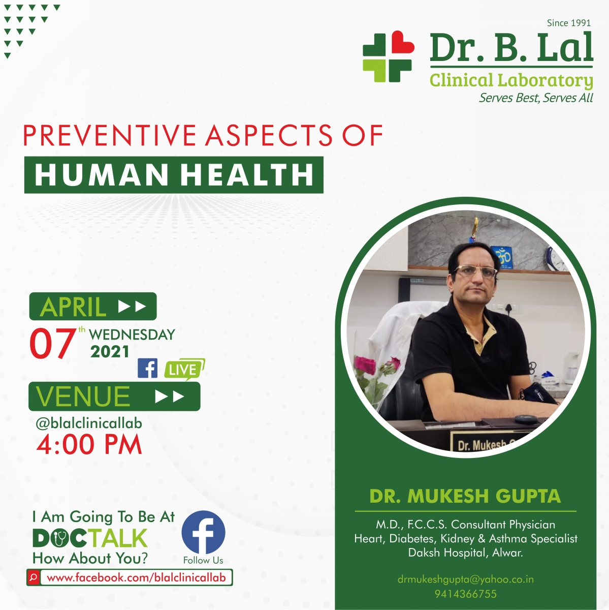 Doctalk | Preventive Aspects of Human Health