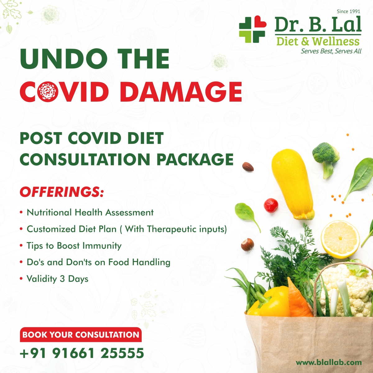 Post Covid Diet Consultation Package