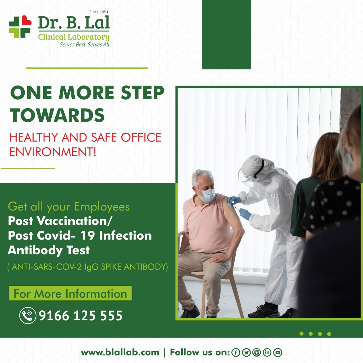 Post Vaccination/Post Covid-19 Infection Antibody Test