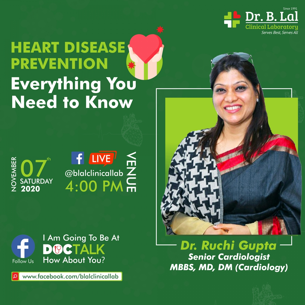 #DocTalk | Heart Disease Prevention | Dr. Ruchi Gupta, Senior Cardiologist, MBBS, MD, DM (Cardiology)