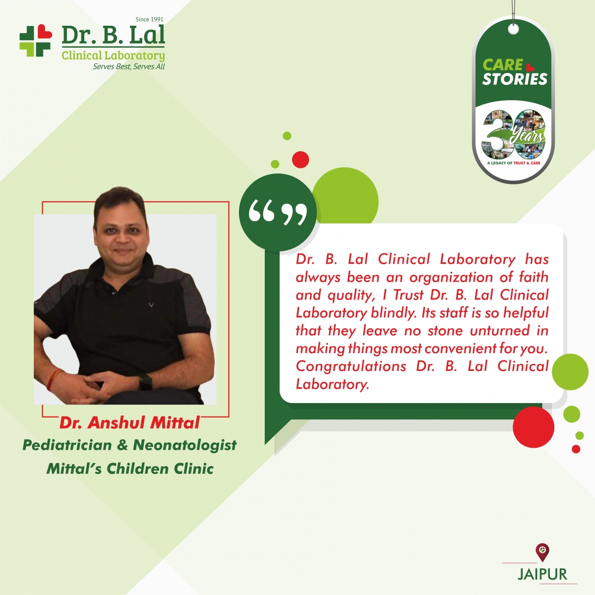 Doctor Testimonial | Dr. Anshul Mittal | #30YearsofTrustandCare