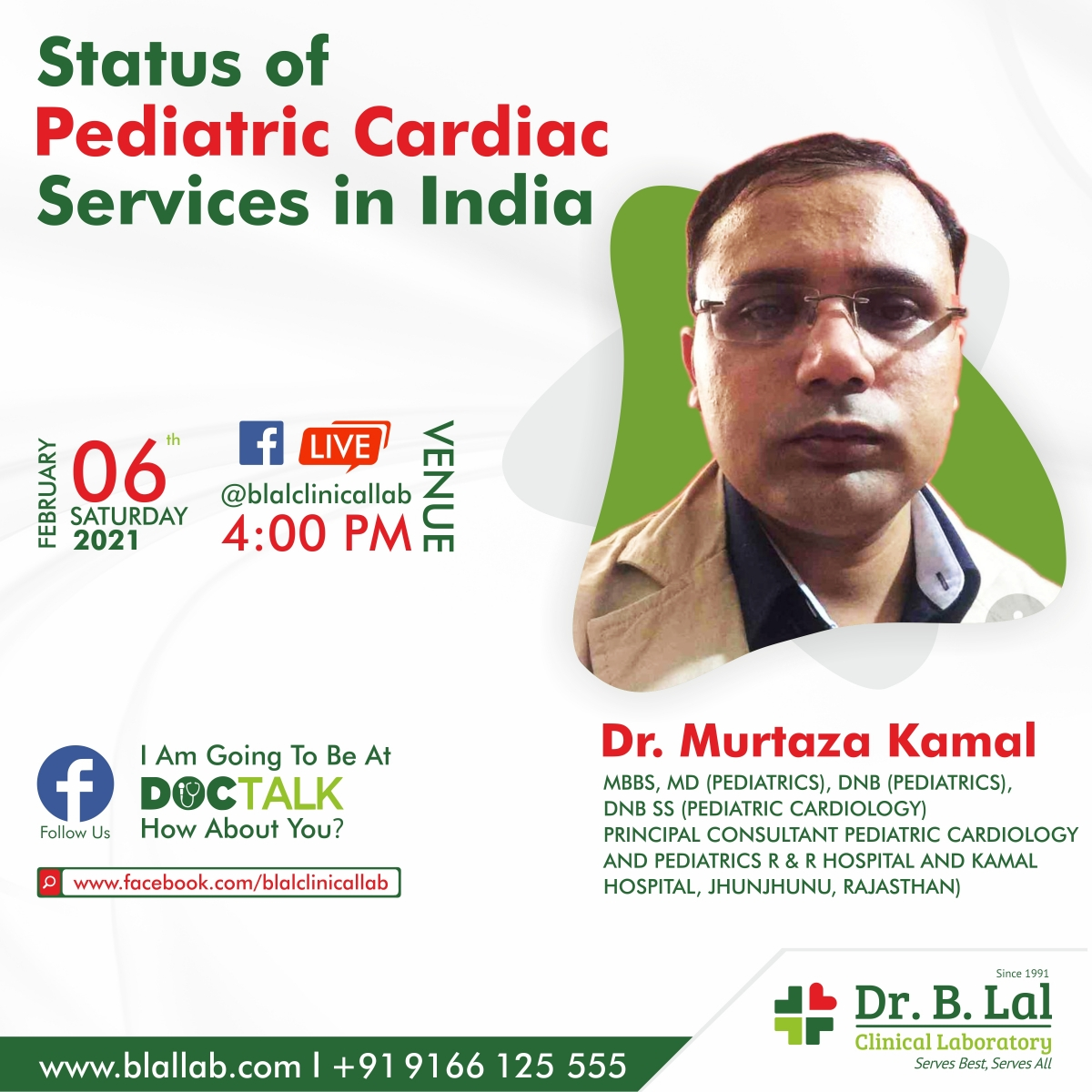 Facebook Live with Dr. Murtaza Kamal | Status of Pediatric Cardiac services in India