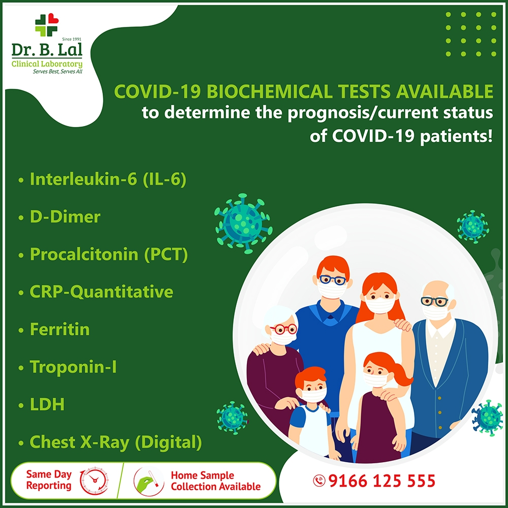 COVID-19 Biochemical Tests At Dr. B. Lal Clinical Laboratory