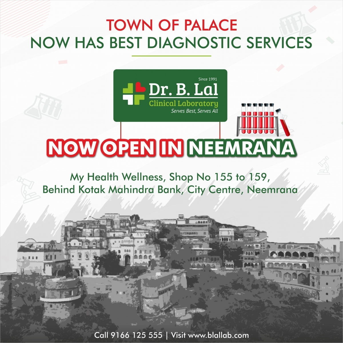 Now serving our Quality Diagnostic Services in Neemrana!