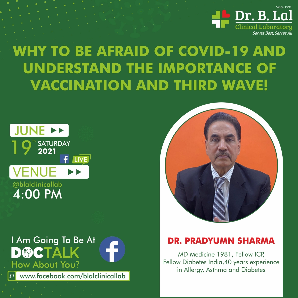 Doctalk   Why to be afraid of Covid-19   Understand the importance of vaccination & third wave